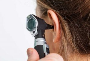 A specialised tool put inside a patient's ear to check hearing obstructions, such as ear wax build-up